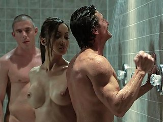 AnyPorn Porno - Asian Beauty Katsuni Double Teamed In The Gym Showers Any Porn
