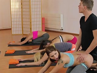 EmpFlix Porno - Yoga Coach Bangs Two Hot Babes Porn Videos