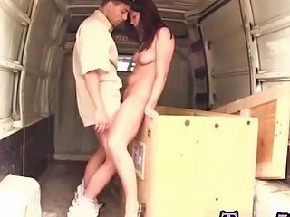 KeezMovies Porno - Teen Crossdresser Anal After Delivering The Huge Boxes To Glad Customers