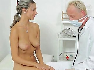 GotPorn Porno - Teen Honey With Plump Natural Tits Licked By Her Gyno Doctor